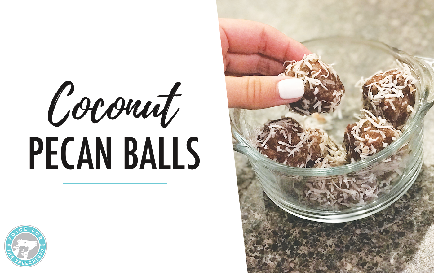 Vegan Healthy Snack: Coconut Pecan Balls